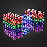 Магнитные шарики-головоломка SKY NEOCUBE (D5) комплект (216 шт) Sky Blue, фото 8