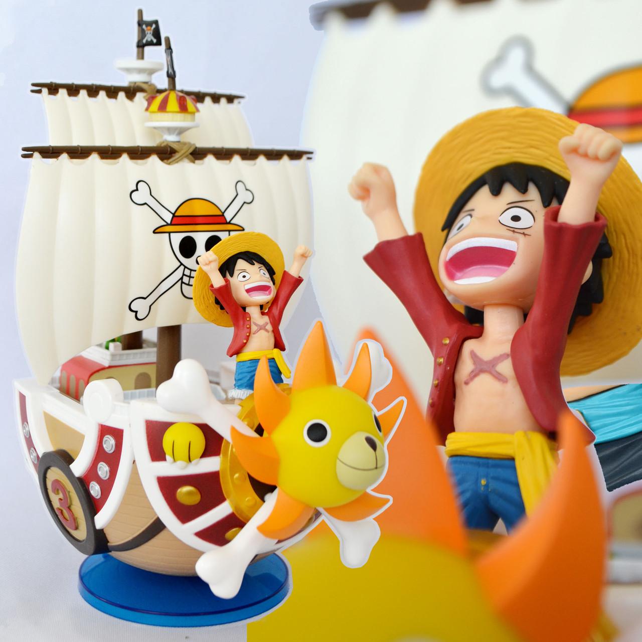 Фигурка One Piece - Monkey D. Luffy & Thousand Sunny - Mega World Collectable Figure Special!!