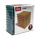 Магнитные шарики-головоломка SKY NEOCUBE (D5) комплект (216 шт) Blue, фото 6