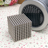 Магнитные шарики-головоломка SKY NEOCUBE (D5) комплект (1000 шт) Silver, фото 6