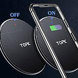 Бездротовий зарядний блок TOPK (BC B01W) 10W Black, фото 2
