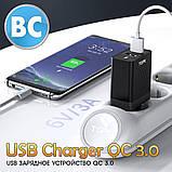 Зарядний пристрій TOPK (BC B254Q) QC 3.0/2USB (28W) White, фото 6