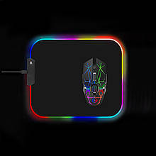 Коврик для мышки SKY (FG-M) Black RGB подсветка 30x35 см