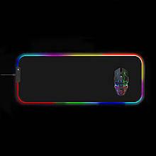 Килимок для мишки SKY (FG-XL) Black RGB підсвічування 30x80 см
