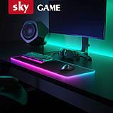 Коврик для мышки SKY (FG-XXL) Black RGB подсветка 40x90 см, фото 2