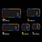 Коврик для мышки SKY (FG-XXL) Black RGB подсветка 40x90 см, фото 3