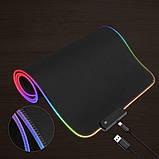 Коврик для мышки SKY (FG-XXL) Black RGB подсветка 40x90 см, фото 5