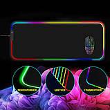 Коврик для мышки SKY (FG-XXL) Black RGB подсветка 40x90 см, фото 6