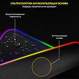 Коврик для мышки SKY (FG-XXL) Black RGB подсветка 40x90 см, фото 8