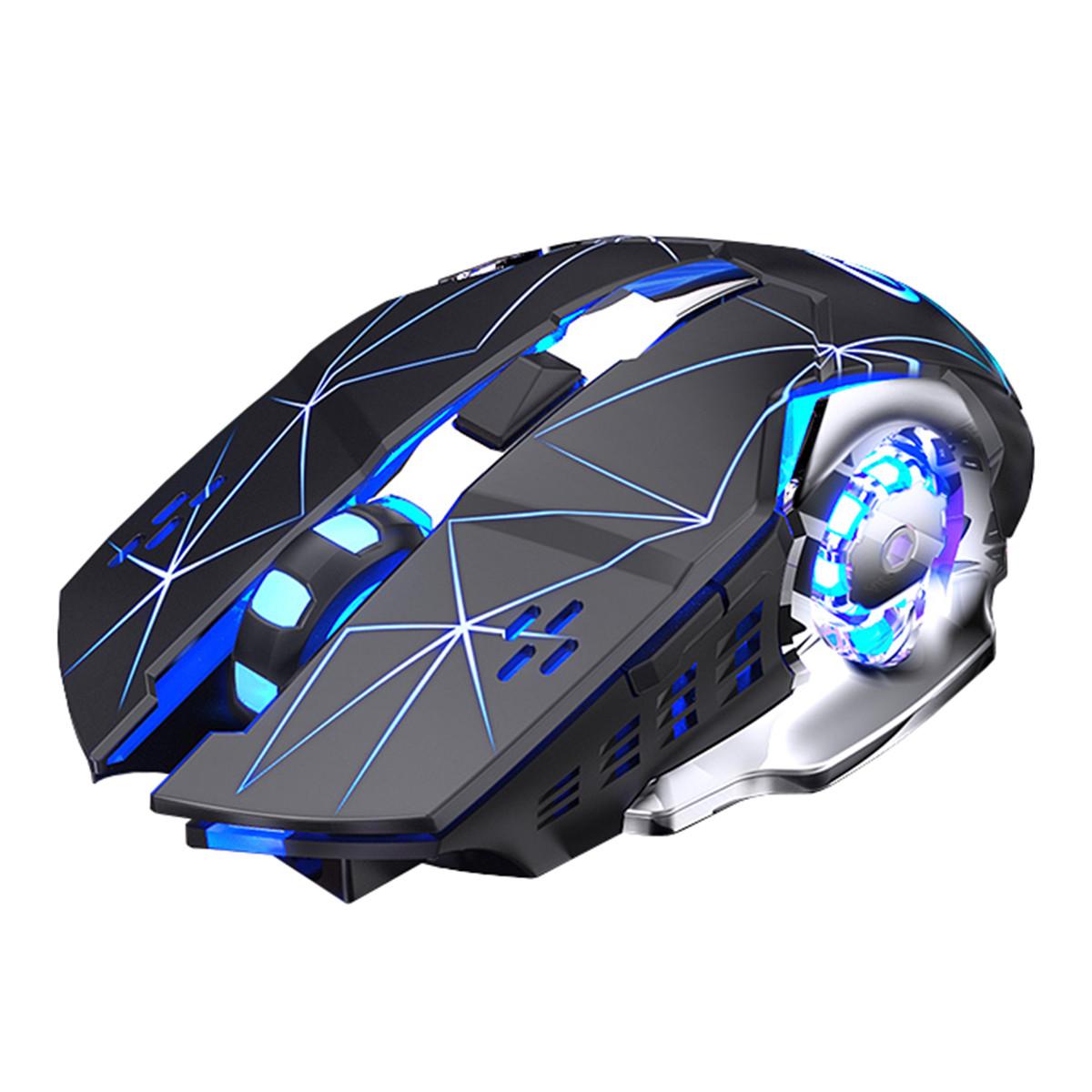 Миша бездротова SKY (A4) Black Star, акумулятор, RGB
