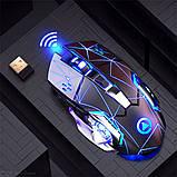 Миша бездротова SKY (A4) Black Star, акумулятор, RGB, фото 3