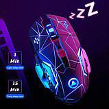 Миша бездротова SKY (A4) Black Star, акумулятор, RGB, фото 5