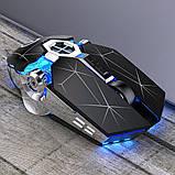 Мышь беспроводная SKY (A7) Star Black, аккумулятор, RGB, фото 6