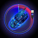 Мышь беспроводная SKY (A7) Star Black, аккумулятор, RGB, фото 8