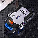 Мышь беспроводная SKY (A7) Star Black, аккумулятор, RGB, фото 9