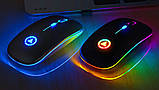 Мышь беспроводная SKY (A2-BT) Black, аккумулятор, Bluetooth, RGB, фото 2