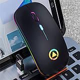 Миша бездротова SKY (A2-BT) Black, акумулятор, Bluetooth, RGB, фото 5