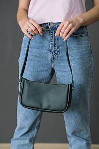 "Сумка женская. Кожаная сумочка ""Джулс"", кожа Grand, цвет Зеленый"