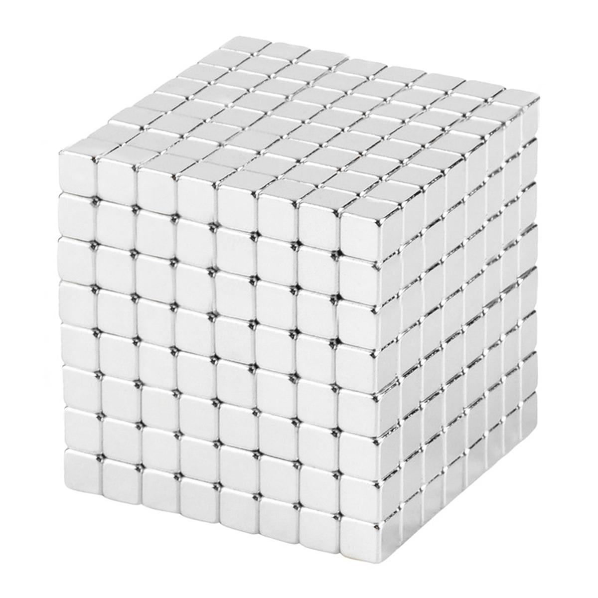 Магнітні кубики-головоломка SKY NEOCUBE (V5) комплект (512 шт) Silver