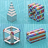 Магнітні кубики-головоломка SKY NEOCUBE (V5) комплект (512 шт) Silver, фото 3