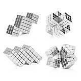 Магнітні кубики-головоломка SKY NEOCUBE (V5) комплект (512 шт) Silver, фото 4