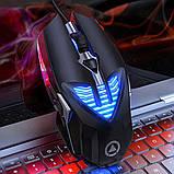 Геймерська миша SKY (G4) Black, 3200 DPI, RGB, фото 4