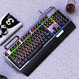 Клавиатура геймерская SKY (K100) Black, RGB, механическая, (EN), фото 3