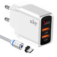 Зарядное устройство SKY (ED 01) 2USB (12W) White