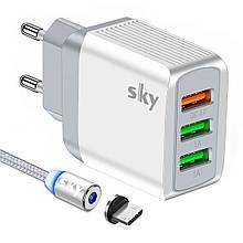 Зарядное устройство SKY (E 02) QC / 2USB (21W) White