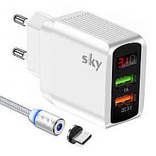 Зарядное устройство SKY (ED 03) QC / USB (20W) White