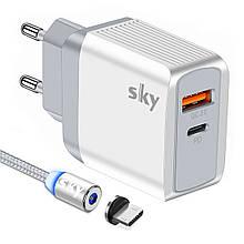 Зарядное устройство SKY (E 04) QC / PD (19W) White