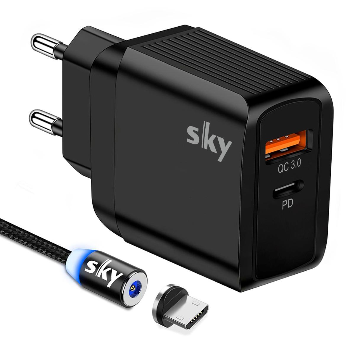Зарядное устройство SKY (E 05) QC / PD (20W) Black