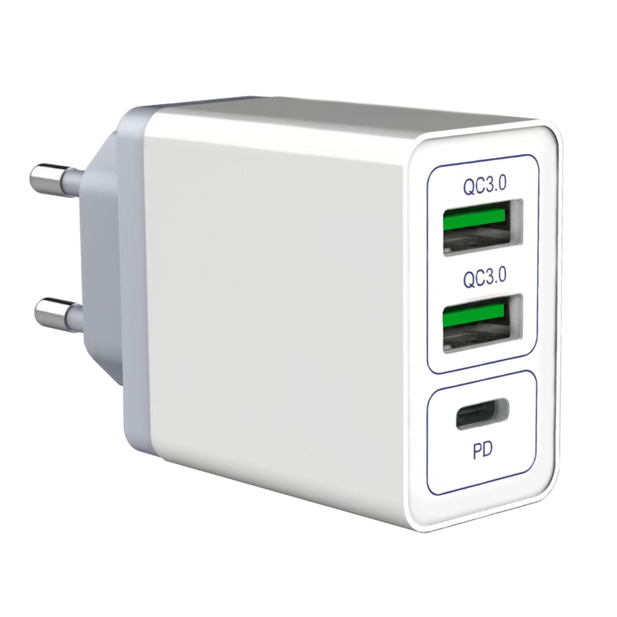 Зарядное устройство SKY (RS 021) 2QC / PD (36W) White