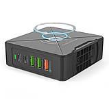 Зарядное устройство SKY (HW 01) QC / PD / TC / 2USB / Wireless (75W) Black, фото 2