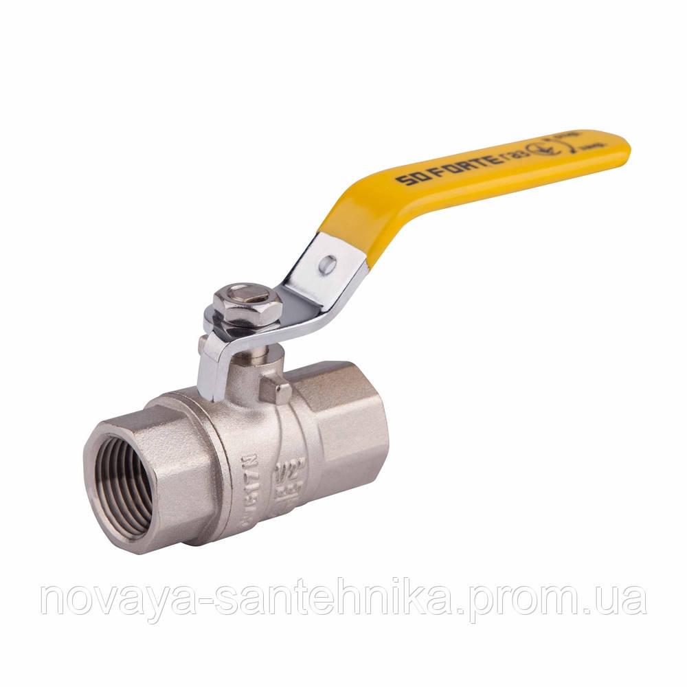 """Кран шаровой SD Forte 1/2"""" ВР для газа (ручка) SF600G15"""
