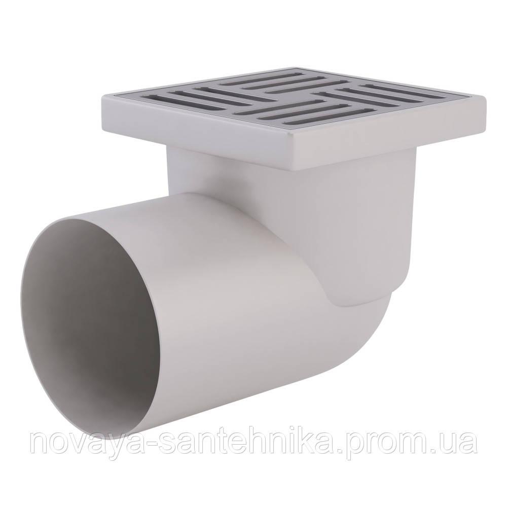 Трап ANI Plast TA1112 горизонтальный с нержавеющей решеткой 150х150