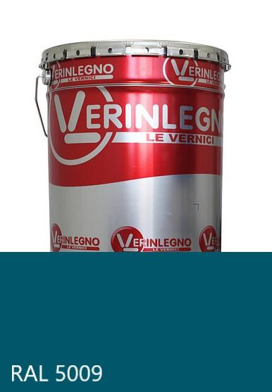 Фарба поліуретанова для меблів Verinlegno Італія, Колір RAL 5009, двокомпонентна