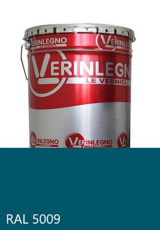 Фарба поліуретанова для меблів Verinlegno Італія, Колір RAL 5009, двокомпонентна, фото 2