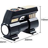 Автомобільний повітряний насос бездротовий для підкачки шин компресор AIKESI LB-70 з цифровим дисплеєм ліхтарем, фото 9