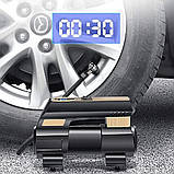Автомобільний повітряний насос бездротовий для підкачки шин компресор AIKESI LB-70 з цифровим дисплеєм ліхтарем, фото 2