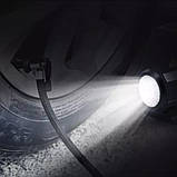 Автомобільний повітряний насос бездротовий для підкачки шин компресор AIKESI LB-70 з цифровим дисплеєм ліхтарем, фото 4