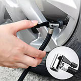 Автомобільний повітряний насос бездротовий для підкачки шин компресор AIKESI LB-70 з цифровим дисплеєм ліхтарем, фото 6