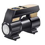 Автомобільний повітряний насос бездротовий для підкачки шин компресор AIKESI LB-70 з цифровим дисплеєм ліхтарем, фото 7