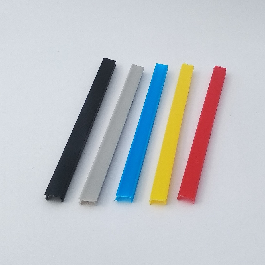 Заглушка лінійна під паз 8мм, синій пластик