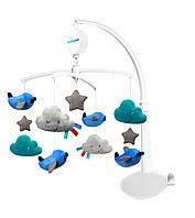 Дитяча іграшка для ліжечка Музична карусель для сну Хмари і літачки BabyOno