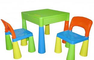 Комплект дитячих меблів Мамут (Столик та 2 кріселка) Мультиколор  \ набір меблів в кімнату для ігор