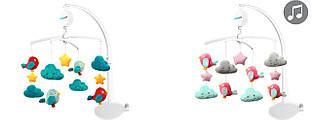 Дитяча карусель мобіль для ліжечка іграшка для сну музична Хмари і пташенята BabyOno