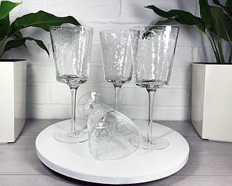Прозрачный бокал для коктейлей 300 мл с разводами