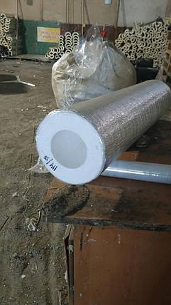 Утеплювач з пінопласту (пінополістиролу) для труб Ø 117 мм завтовшки 50 мм фольгована, фото 2