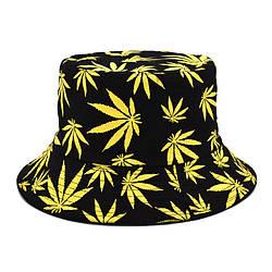 Панама чорна (панамка з жовтими листям марихуани чоловіча жіноча)